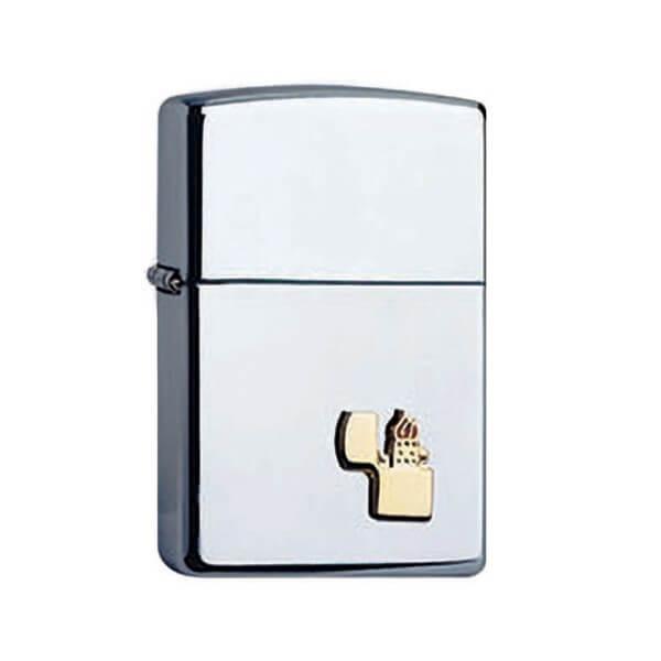 151640 bricheta zippo chrome emblem 1