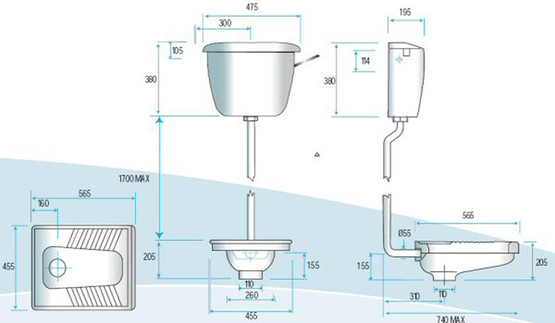 float level switch wiring diagram teeth labeled squatting wc pan - ceramic gentworks urinals, stainless steel toilets, drinking fountains and ...