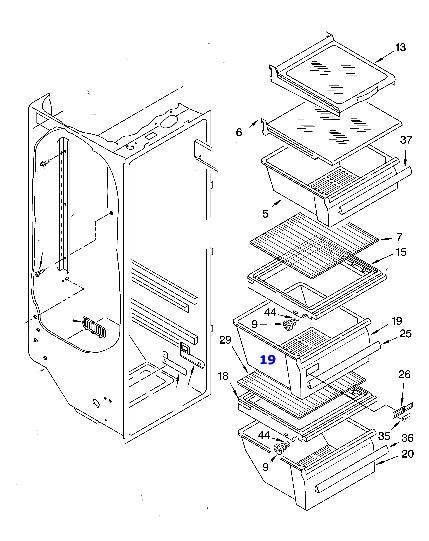 WP2188656 Sears Kenmore Refrigerator Crisper Drawer