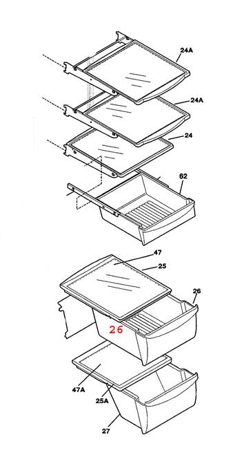 240351061 Electrolux Frigidaire Crisper Drawer