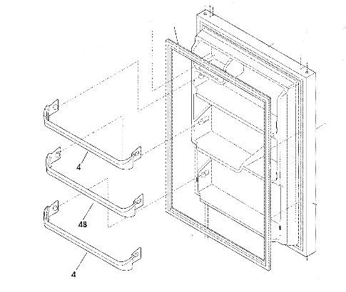 240534901 Frigidaire Refrigerator Door Rack