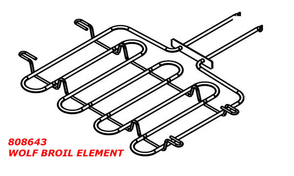 808643 Wolf Oven Broil Element