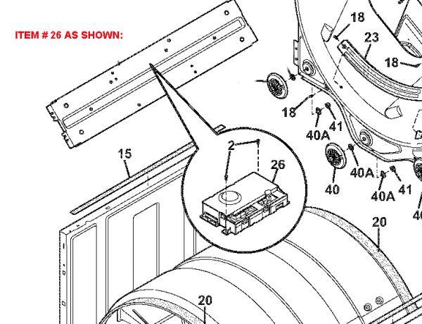 809160308 Electrolux Frigidaire Dryer Control Board