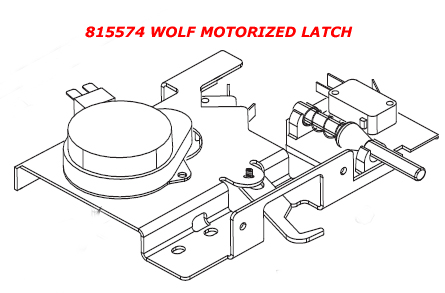 815574 Wolf Oven Motorized Latch