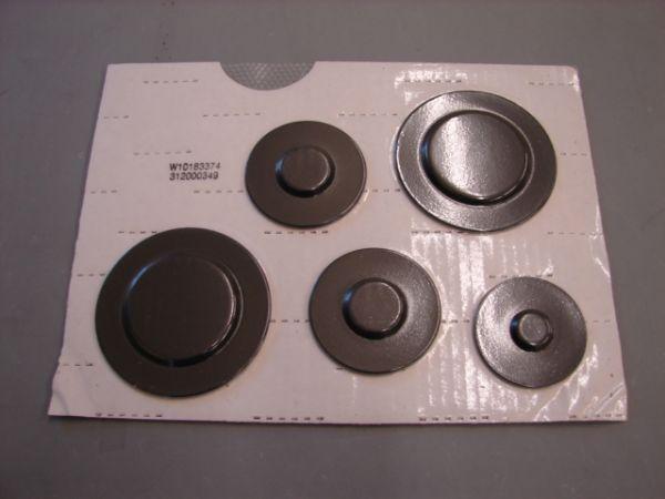 WPW10183374 Whirlpool Gas Range Burner Cap Kit
