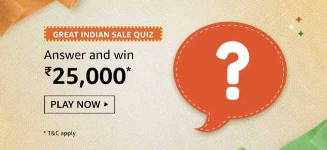 Amazon Great Indian Sale Quiz