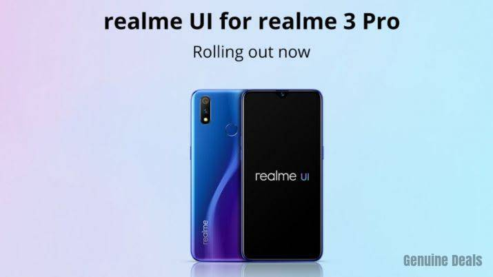 Realme UI for Realme 3 Pro Software Update