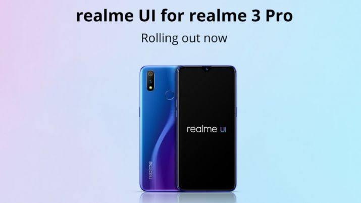 Realme UI for Realme 3 Pro Software Update