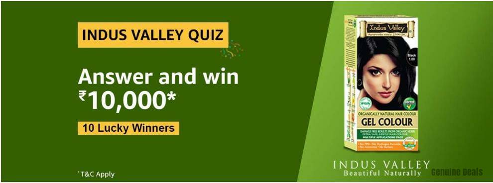 Amazon Indus Valley Quiz Answers – Win Rs 10000