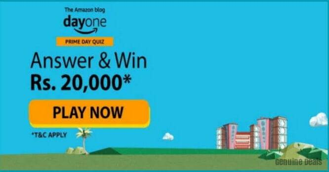 Amazon Blog Day One Quiz Answer – Win Rs. 20000