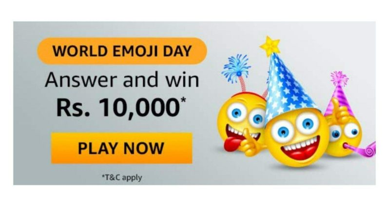 Amazon World Emoji Day Quiz Answers – Win Rs. 10000