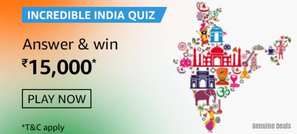 Amazon Incredible India Quiz Answers – Win Rs. 15,000