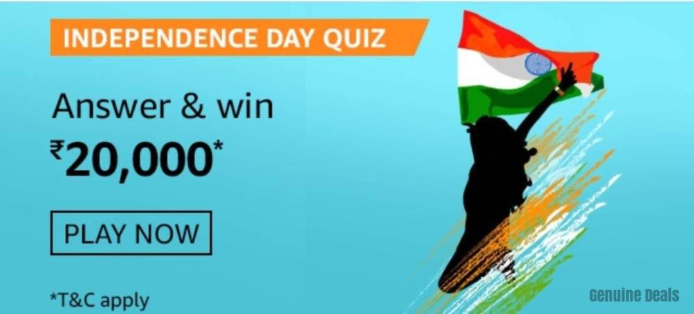 Amazon Independence Day Quiz Answers – Win Rs. 20,000
