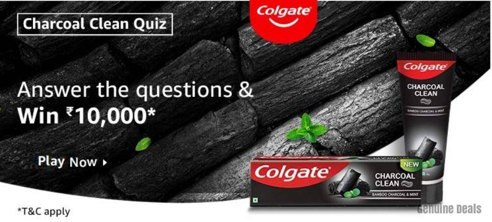 Amazon Charcoal Clean Quiz Answers – Win Rs. 10000