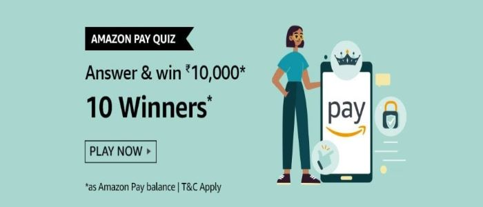 Amazon Pay Quiz Answers – Win Rs. 10,000 Paybalance