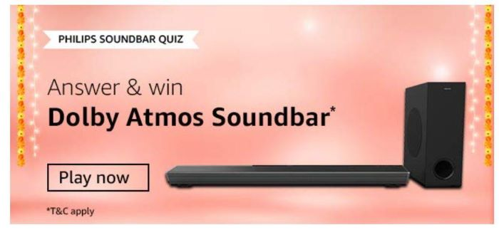 Amazon Philips Soundbar Quiz Answers – Win Dolby Atoms Soundbar
