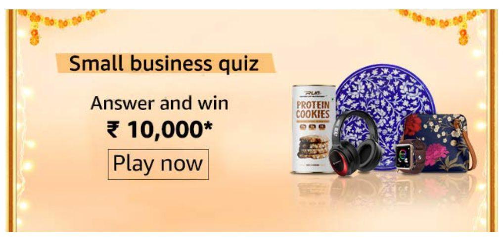 Amazon Small Business Quiz Answers – Win Rs. 10,000 Paybalance