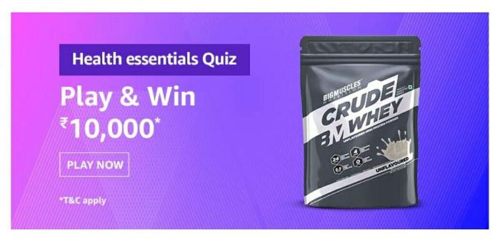 Amazon Health Essentials Quiz Answers – Win Rs.10,000 Paybalance
