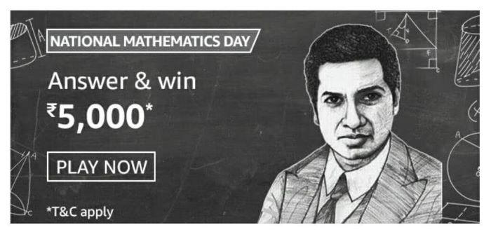 Amazon National Mathematics Day Quiz Answers – Win Rs.5,000