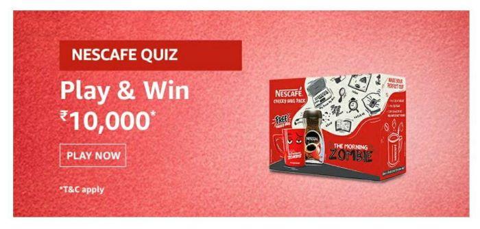 Amazon Nescafe Quiz Answers – Win Rs.10,000