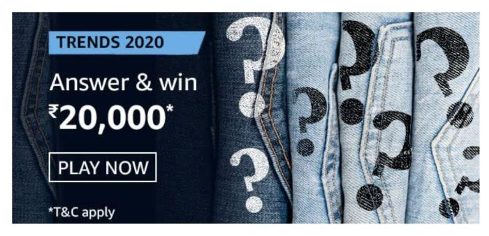 Amazon Trends 2020 Quiz Answers – Win Rs. 20,000 Paybalance