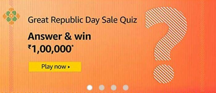 Amazon Great Republic Sale Quiz Answers – Win Rs.1 Lakh