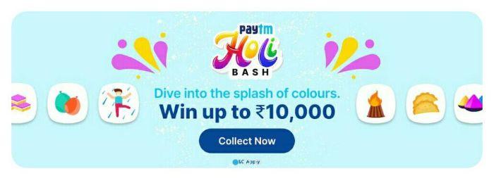 Paytm Holi Bash Offer