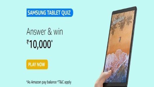 Amazon Samsung Tablets Quiz Answers