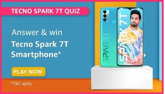 Amazon Techno Spark 7T Quiz