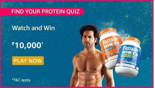Amazon Fast Up Find your Protein Quiz