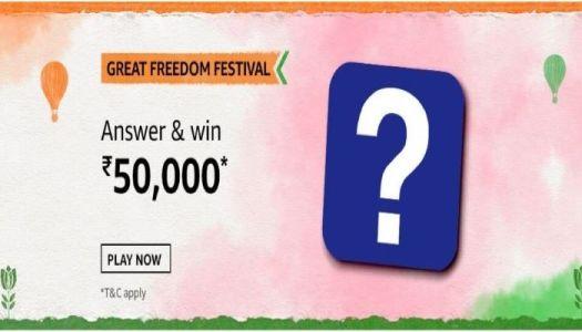 Amazon Great Freedom Festival Quiz Answers