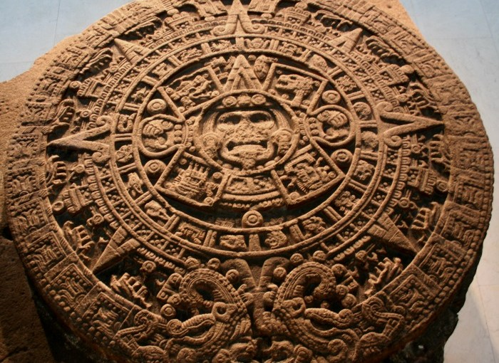 Picture of Aztec Calendar. Was it an idol?