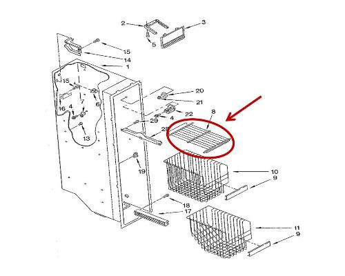 Whirlpool Part# WP2174249K Wire Shelf (OEM)