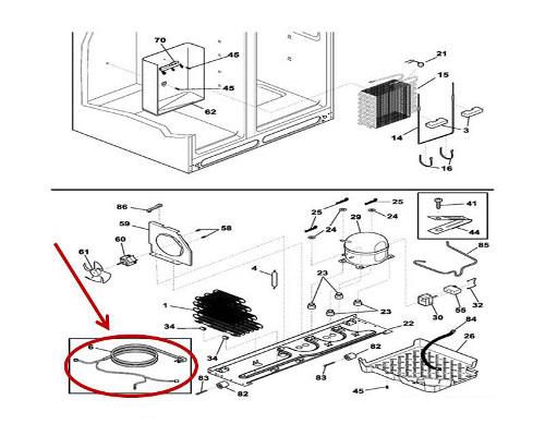 Crosley CRSH238MB6 Refrigerator Power Supply Cord and