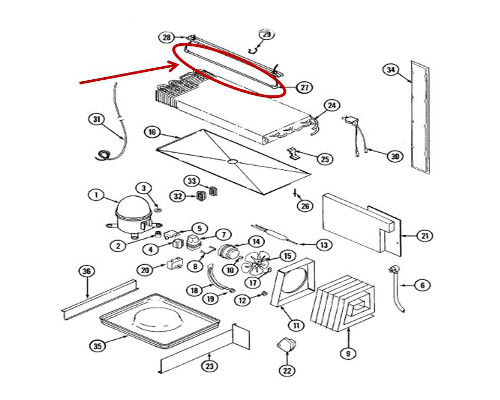 Whirlpool Part# 60106-35 Defrost Heater (OEM)