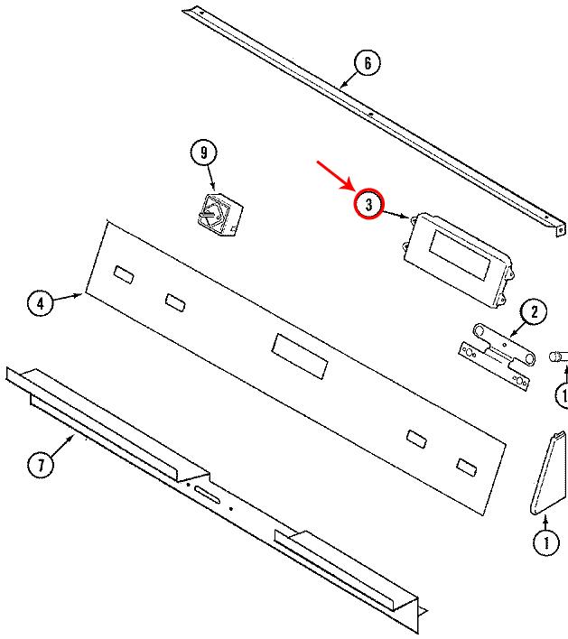 Jenn-Air SVD48600B Control Panel/Touchpad/Membrane