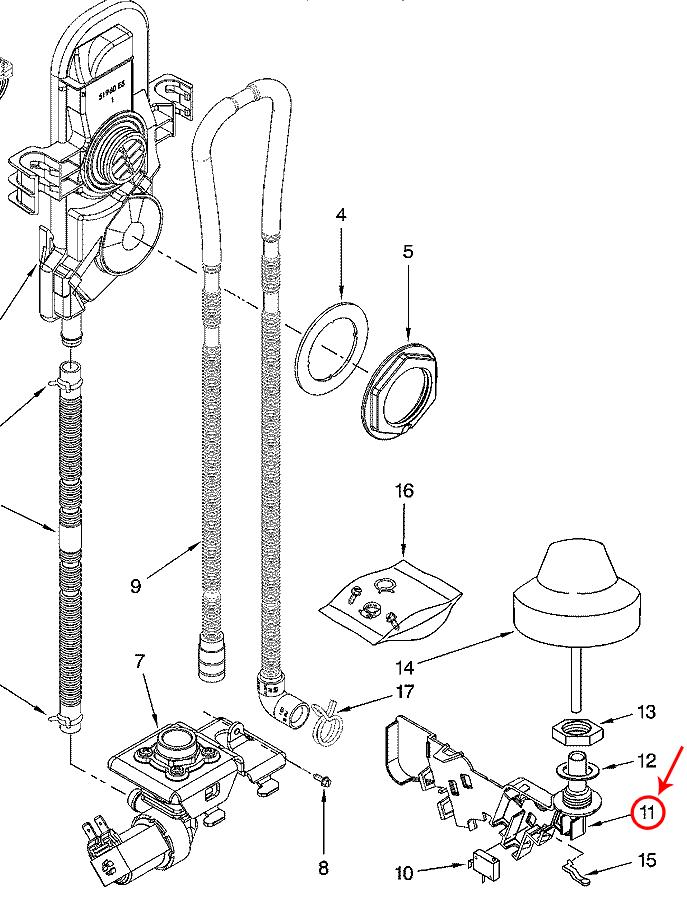 Whirlpool Part# 8193506 Float Switch Kit (OEM)