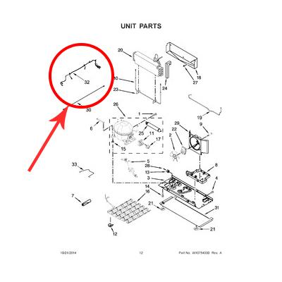 Whirlpool Part# W10528619 Wire Harness (OEM)