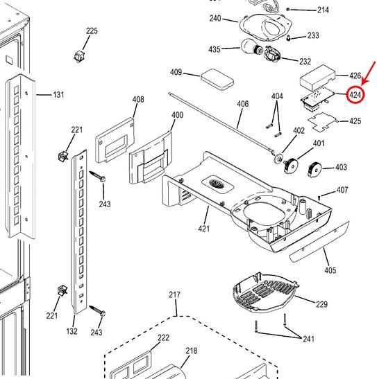 GE Part# WR55X22483 Refrigerator Control Board (OEM)