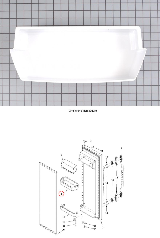Crosley CS22AEXHW00 Freezer Wire Shelf Genuine OEM