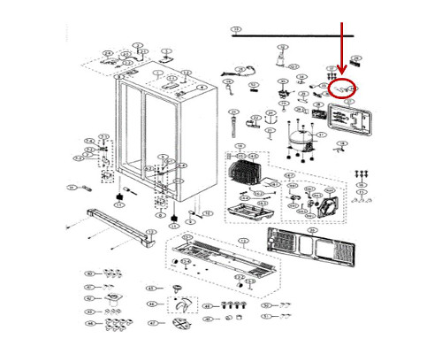 Samsung Part# DA39-00154H Wire Harness (OEM)