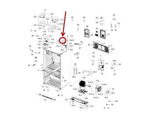 Samsung Refrigerator Rf263aers Parts Diagram. Diagram