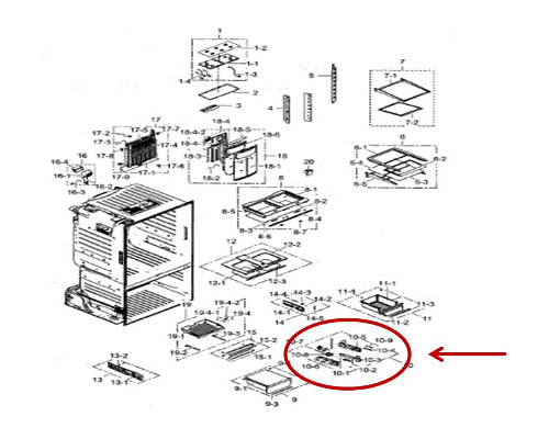Samsung Part# DA97-12663A Filter Tank Case Assembly (OEM)