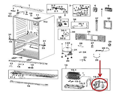 Samsung Part# DA97-15765C Circuit Motor Support (OEM)