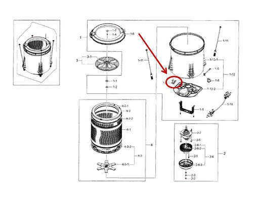 Samsung Part# DC31-20014C Drain Motor (OEM)