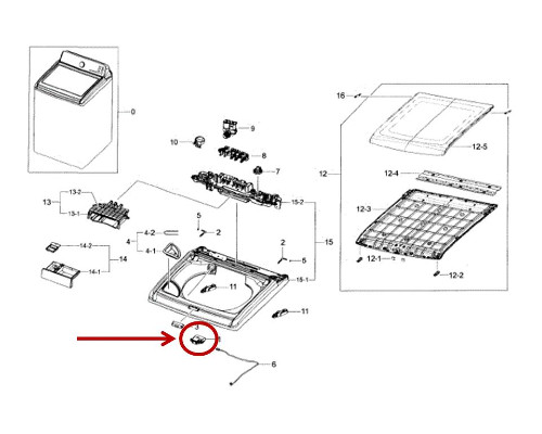 Samsung Part# DC34-00025E Door Lock Switch (OEM)