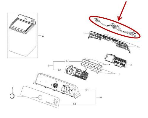 Samsung Part# DC93-00311B Main Wire Harness (OEM)