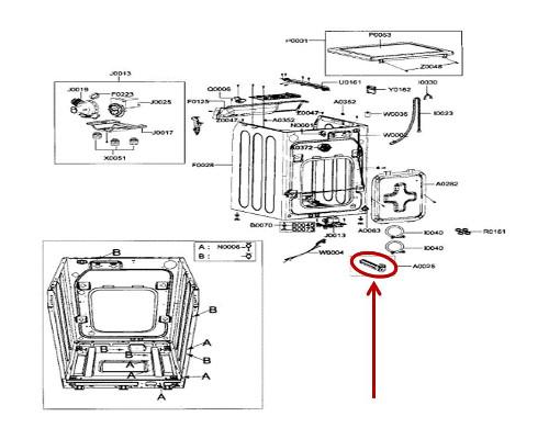 Samsung Part# DC97-07448B Fixer Tub (OEM)