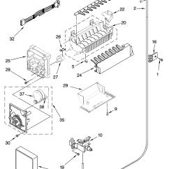 Kenmore 106 Refrigerator Parts Diagram 7 Flat Trailer Plug Wiring 56663502 Water Inlet Valve