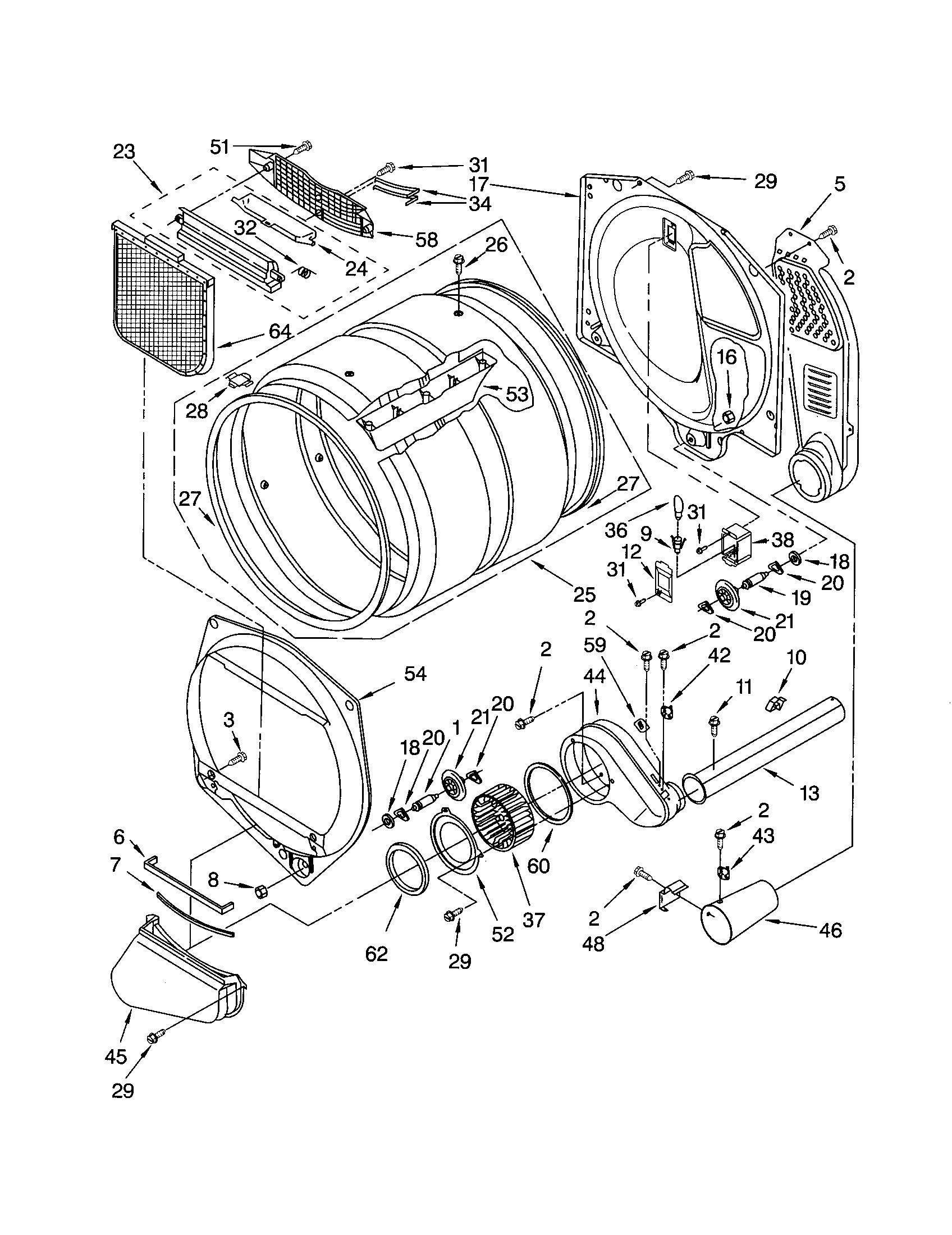 Kenmore 110.73046100 Dryer Thermal Cut-Off Fuse Kit